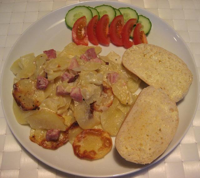 potatisgratäng med skinka